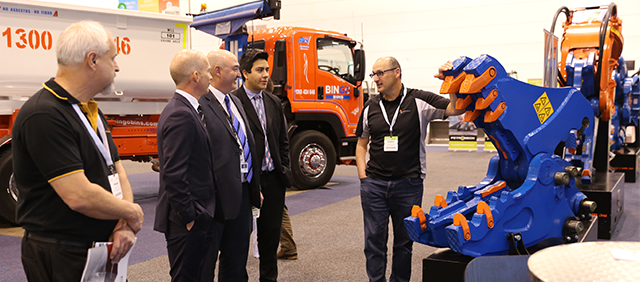 products and services on display at waste exhibition australia