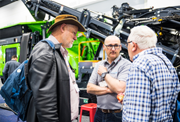 Conversations on the expo floor at Waste Expo Australia
