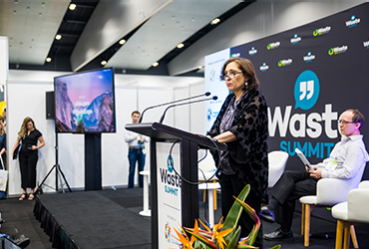 Lily D'Ambrosio speaking at Waste Expo Australia