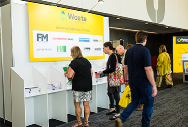 Media wall at Waste Expo Australia
