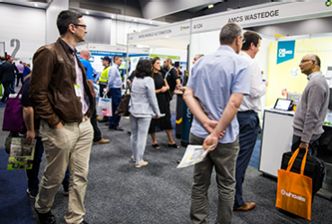 Busy aisles at Waste Expo Australia